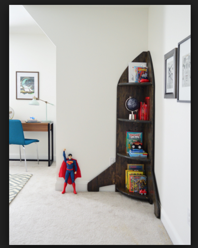 Spaceship Bookshelf Space Themed Bedroom Outer Space Bedroom Space Themed Room