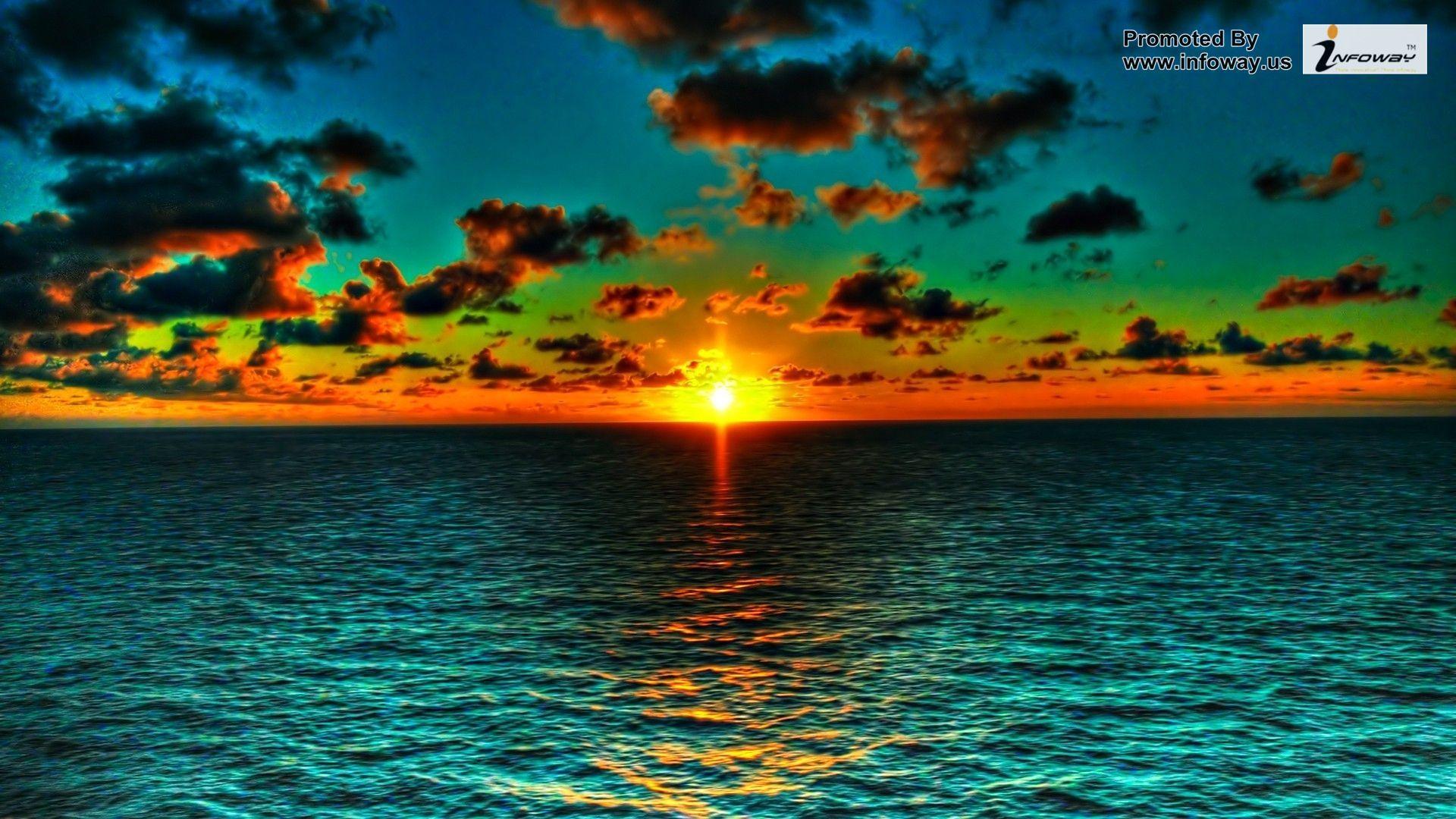 Beautiful Ocean Waves Photo 156 Of 274 Phombo Com Sunset Wallpaper Beautiful Sunset Ocean Sunset