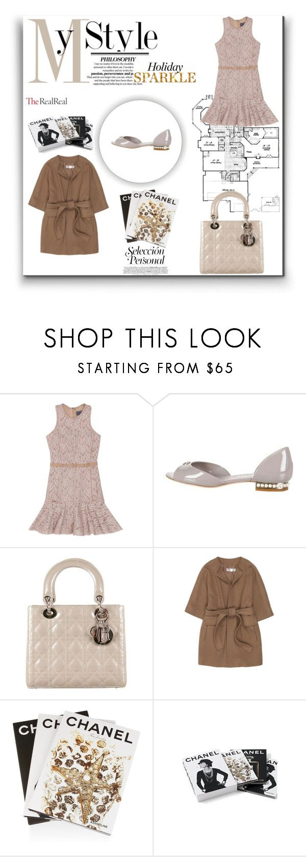 """Holiday Sparkle With The RealReal: Contest Entry"" by adelinaaaa ❤ liked on Polyvore featuring Lanvin, Chanel, Christian Dior, STELLA McCARTNEY and Assouline Publishing"