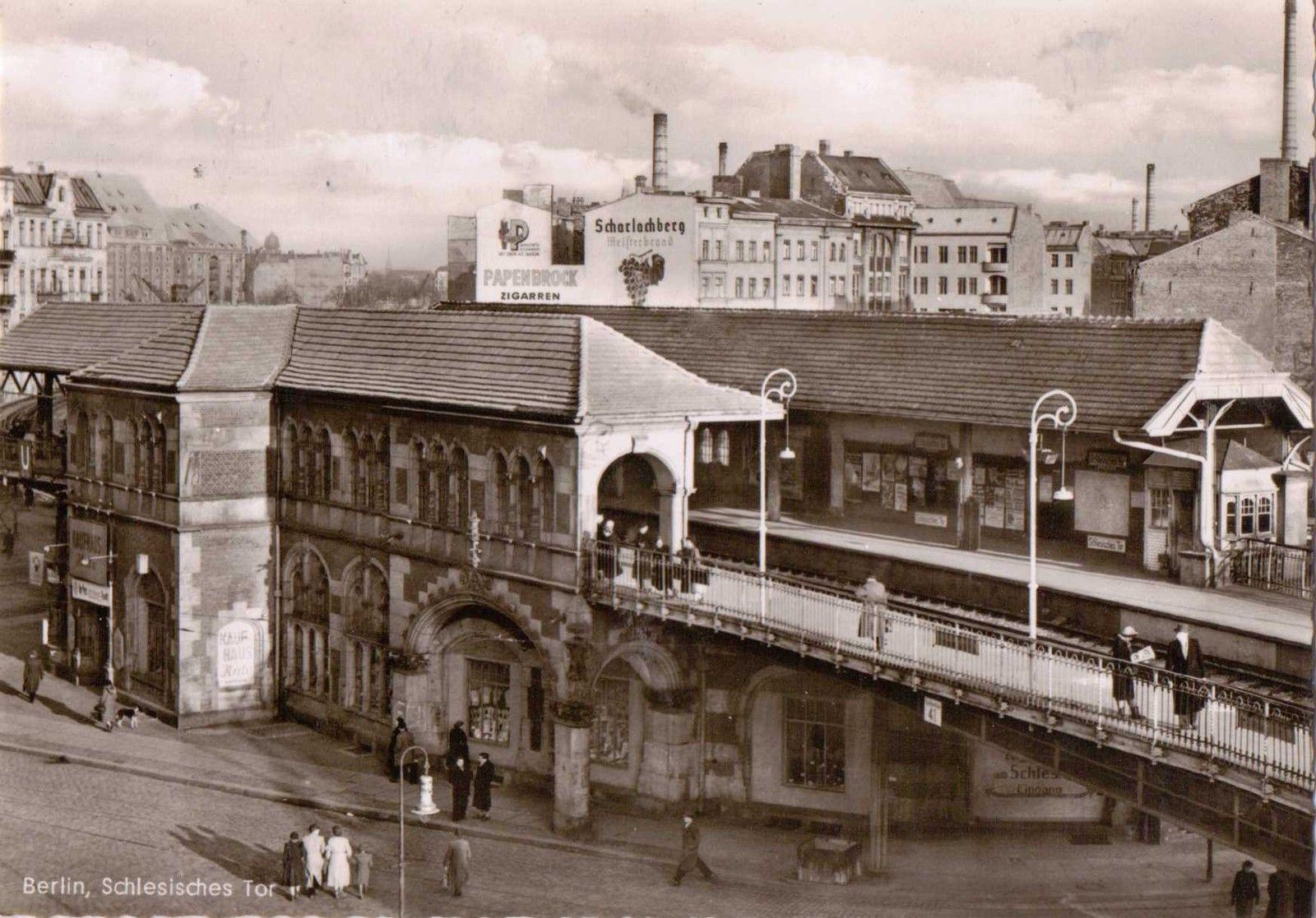 Ak Berlin alte foto ak berlin schlesisches tor reklame bahnhof eur 10 00