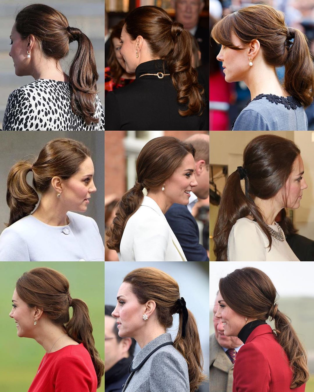 a look at the duchess of cambridge s different hairstyles from her elegant ponytails to her many intricate updo kate middleton hair elegant ponytail mama hair kate middleton hair