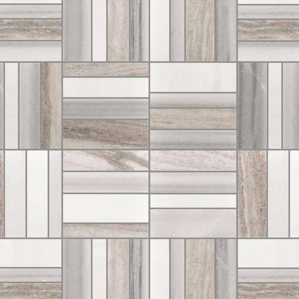 Metro Skyline Polished Marble Mosaic In 2020 Marble Mosaic Marble Mosaic Tiles Floor Decor