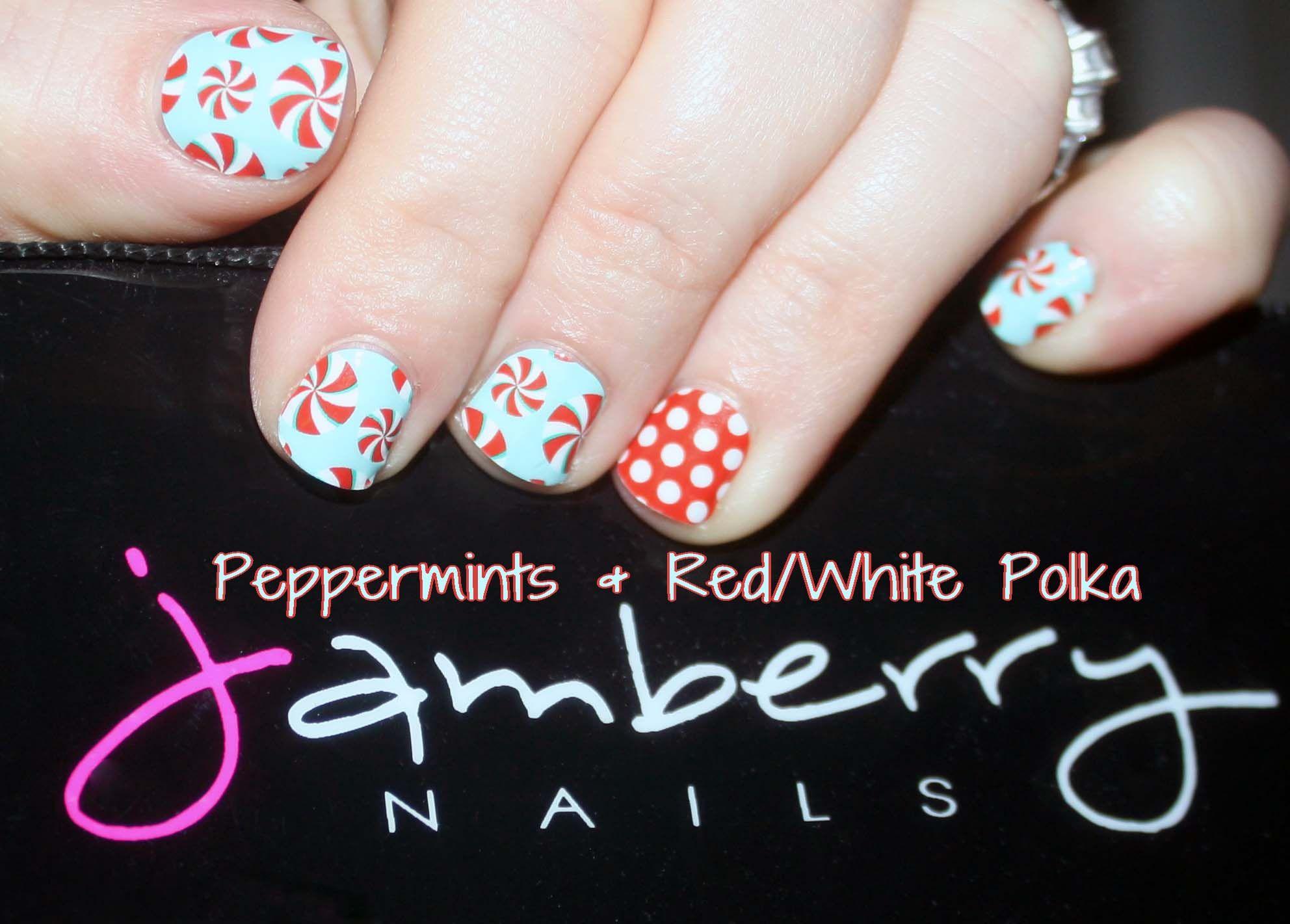 Peppermints Redwhite Polka Jamberry Nails Nail Art Nail Wraps