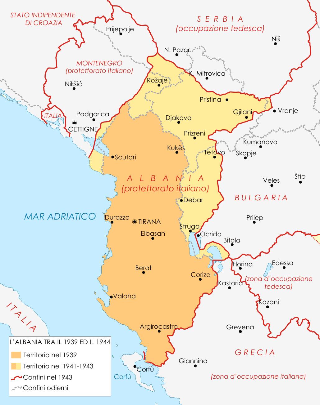 MapofAlbaniaduringWWIIITpng 10301306 KOSOVO Pinterest