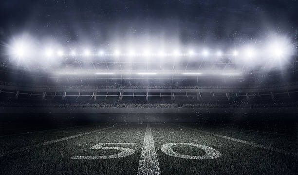 American Football Stadium In Lights And Flashes Score Hero Review American Football Football Stadiums Football Background