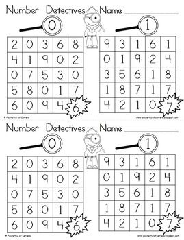 Number Detectives {Printable 0-9 Number Searches
