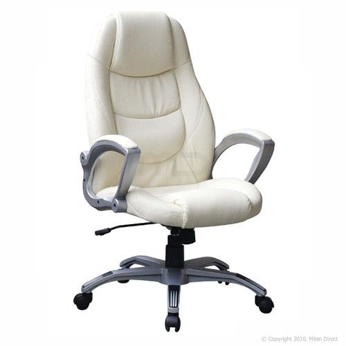 Executive Office Chair Cream High Back Office Chair High Back
