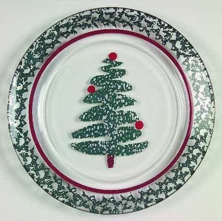 Furio Sponge Christmas Tree 9 Inch Glass Salad Plates Set Of Christmas Dinnerware Plates Party Plates