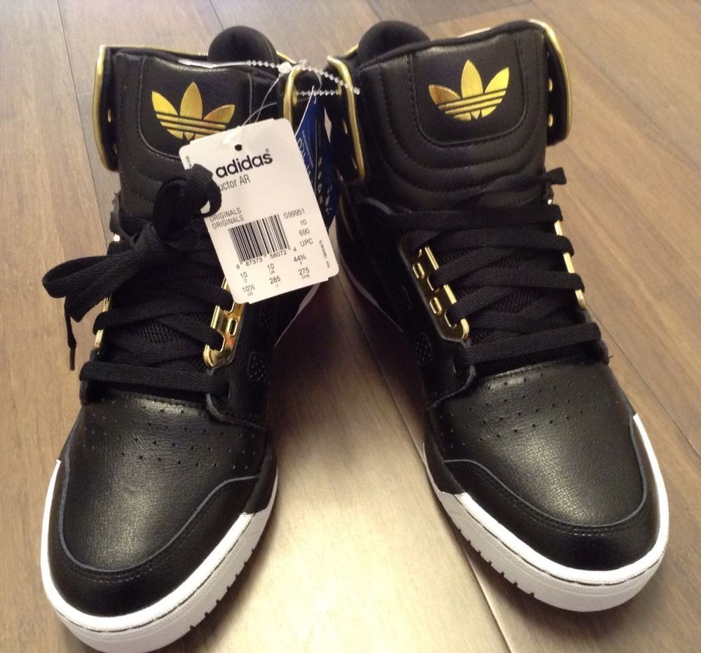the latest cfa96 fae47 Adidas Conductor AR Basketball Shoe BlackMetallic Gold Leather Suede Mens  10 Adidas BasketballShoes