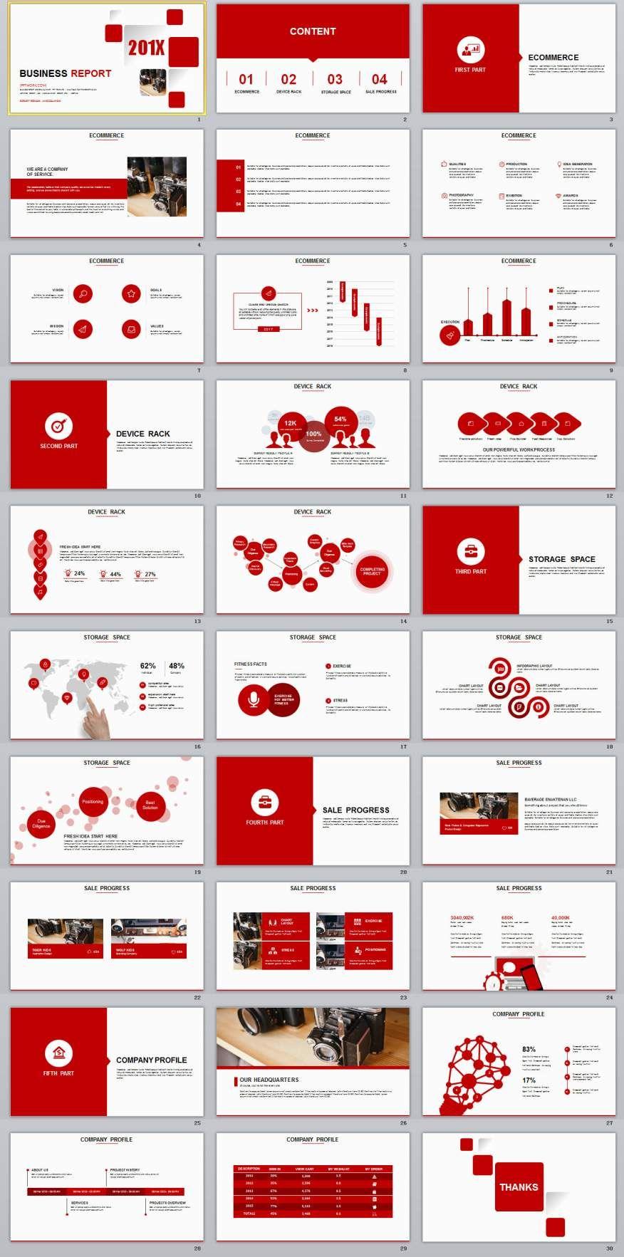30 red business report powerpoint templates template business 30 red business report powerpoint templates toneelgroepblik Choice Image