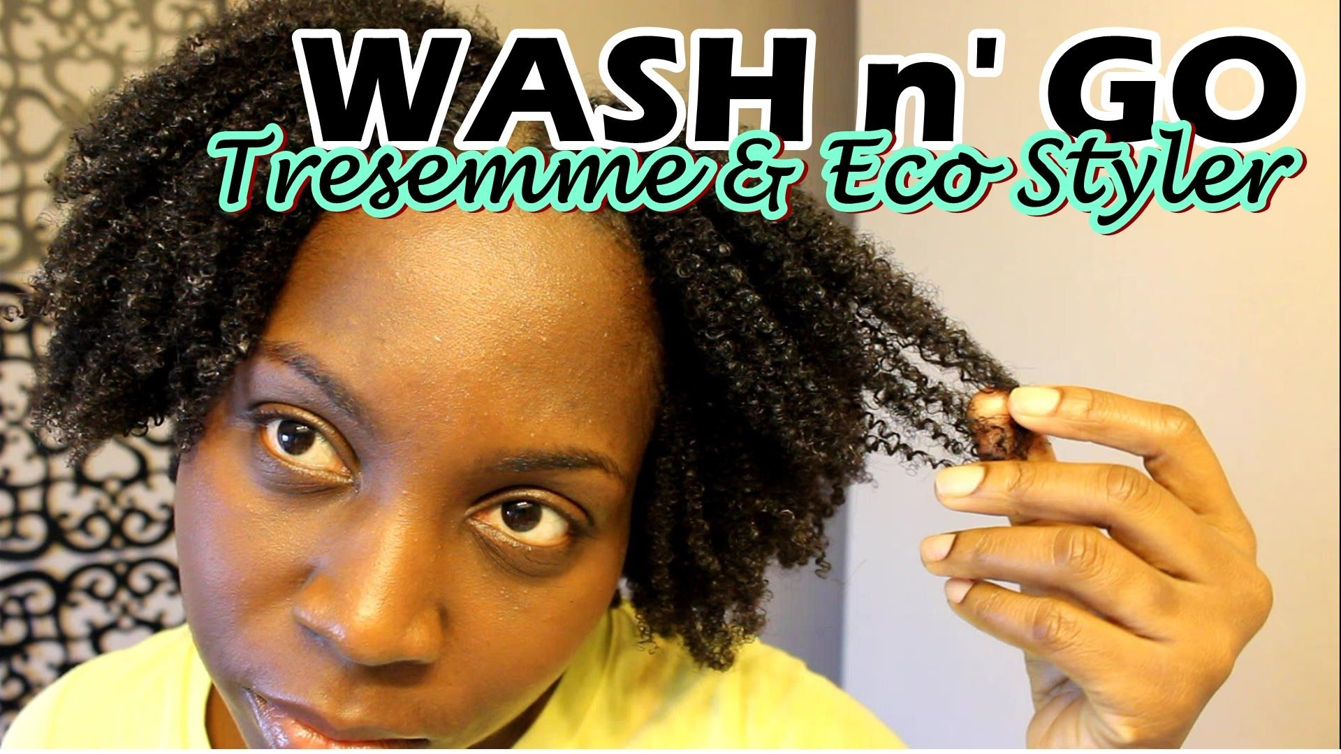 Wash And Go 4b 4c Natural Hair Tresemme Natural And Eco Styler Gel Natural Hair Styles Eco Styler Gel 4c Natural Hair
