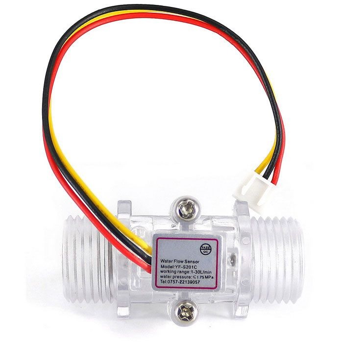 G1 2 Plastic Water Flow Sensor Turbine Hall Flowmeter For Arduino Ruki