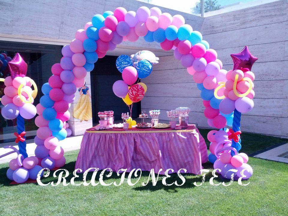 Decoracion de cumplea os de nora hija de fernando torres - Decoracion con globos para cumpleanos ...