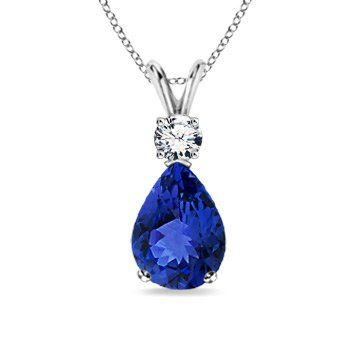 Angara Tanzanite and Diamond Pendant in Yellow Gold h1bJgqHJd