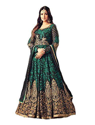 338a687cf Delisa Ready Made Designer Fashion Anarkali Salwar Kameez Party Wear Maisha  New (Green