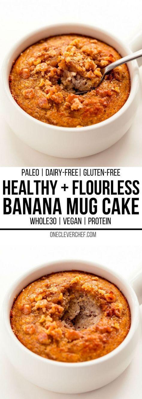 Banana Mug Cake   Recipe   Mug cake healthy, Healthy ...