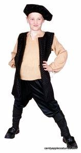 Child's Renaissance Boy Costume - Black | Galileo?
