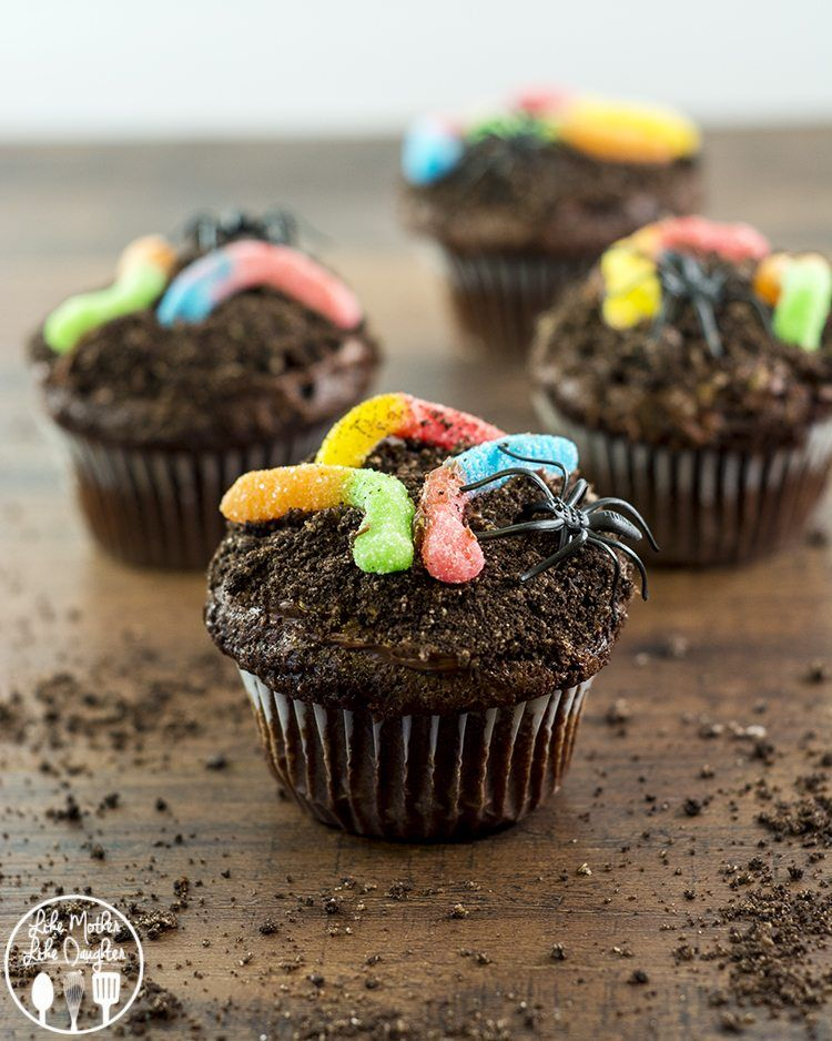 Dirt Cupcakes These Delicious Chocolate Cupcakes Are Topped With
