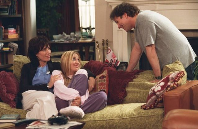 Katey Sagal, Cuoco and John Ritter in Disney's 8 Simple Rules a funny & entertaining TV show