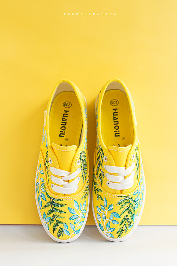 Hand painted Women Canvas Shoes bc54ceb805a