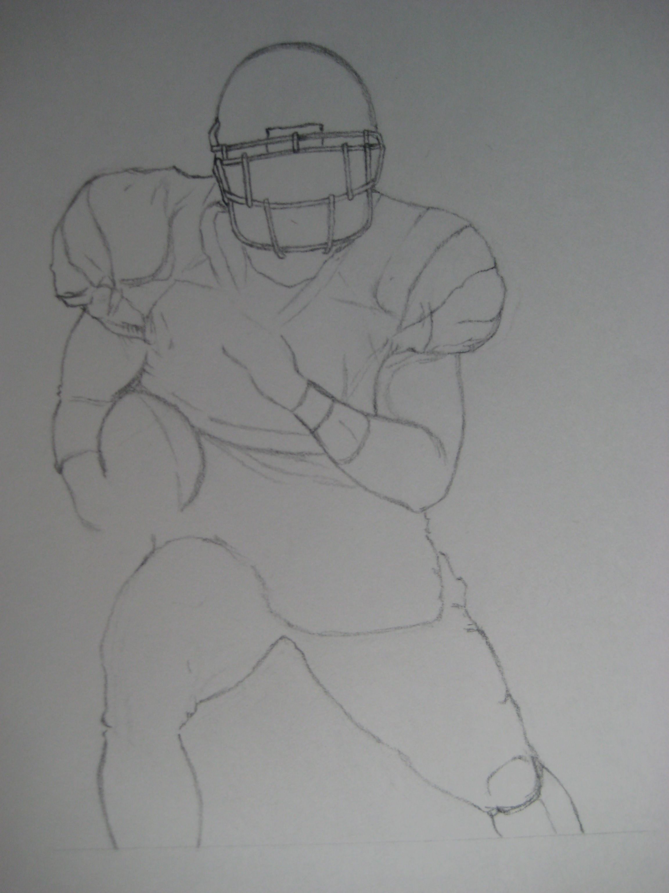 Sketch by kayleigh foley football part 1 pencil