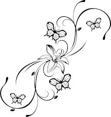 Malvorlage Blume Mit Schmetterling Google Suche Tattoo Ideen