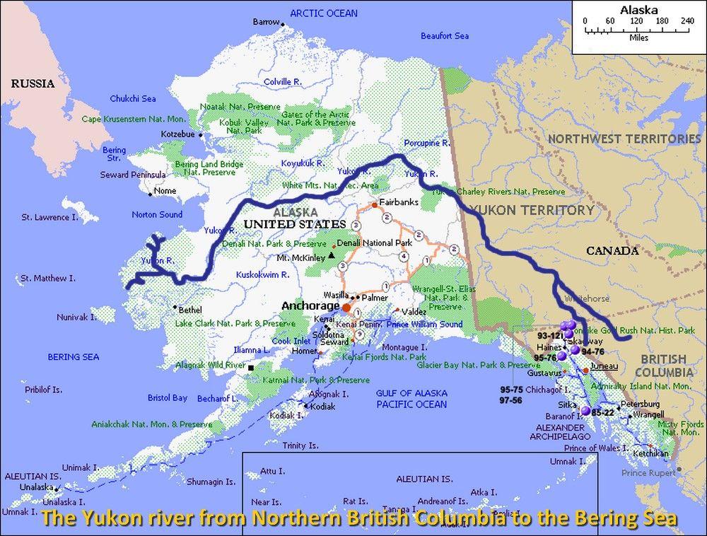 Yukon River Map Maps Pinterest Rivers - Yukon river on us map