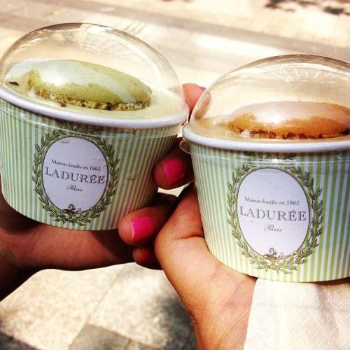 jessicaweeny:  Ice cream #Macaron #Laduree #ChampsElysee
