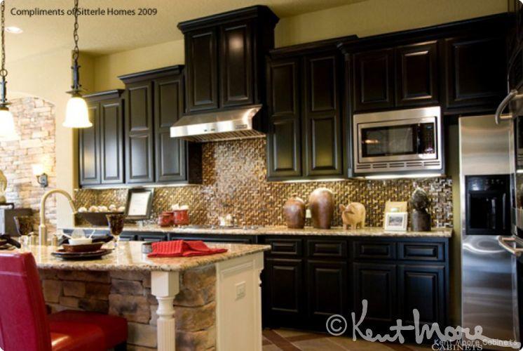 Dark Maple Kitchen Cabinets custom kitchen cabinetskent moore cabinets. dark maple wood