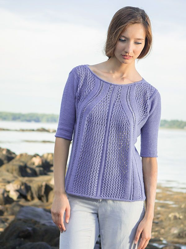 Marboré is a lovely charted lace pullover featuring lace on both the ...