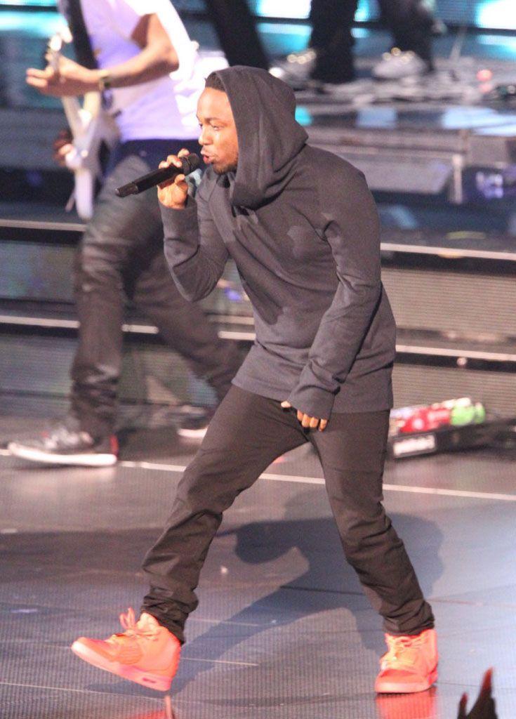 Kendrick Lamar Wears 'Red October' Nike Air Yeezy 2 ...