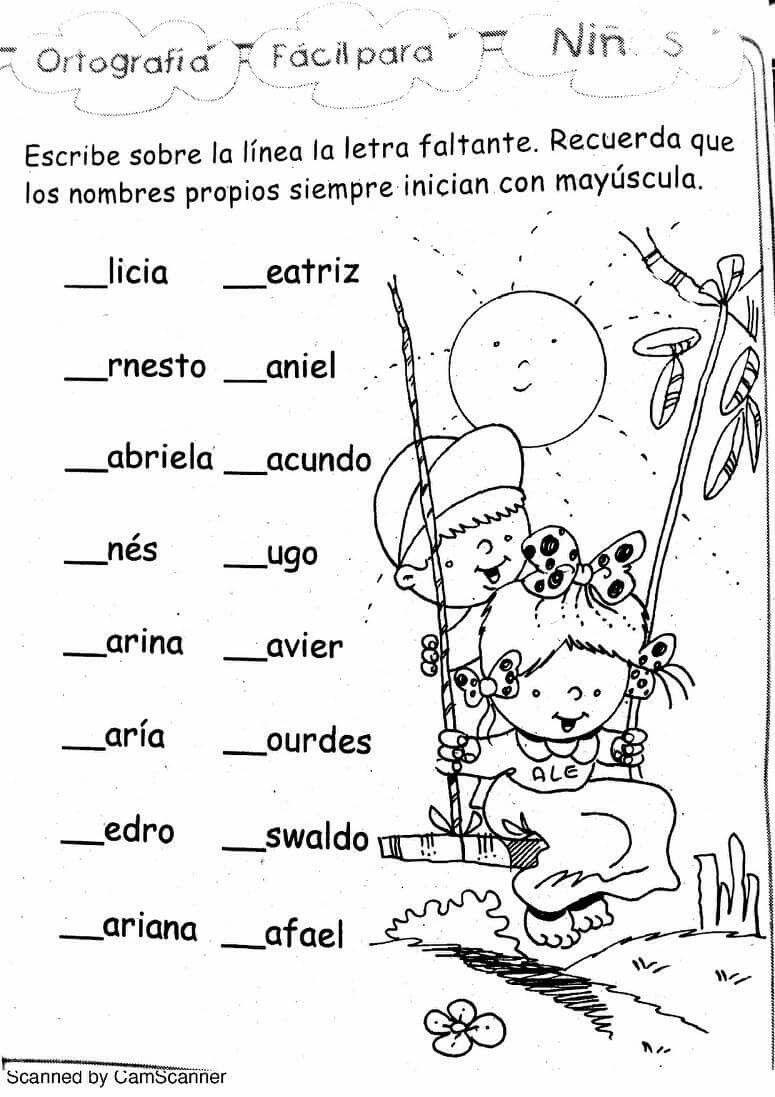Uso De Nombres Mayúsculas Mayusculas Enseñanza De Las Letras Ejercicios De Español