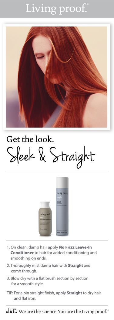 How to style a sleek & straight look.