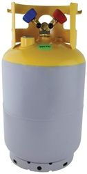 Mastercool 62010 30 Lb D O T Refrigerant Supply Tank With Out Float Recovery Tank Refrigeration And Air Conditioning Recovery