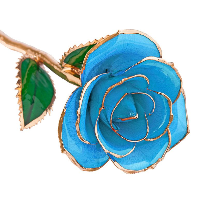 Baby Blue 24kt Gold Dipped Rose Steven Singer Jewelers Goldrose Mdaygift