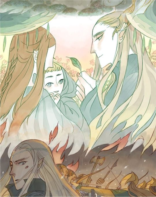 relationship between elrond and thranduil x