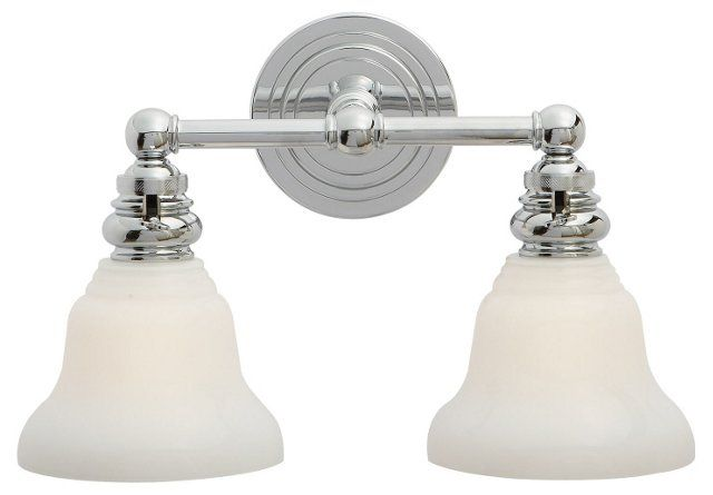 Boston Double Light Chrome With Images Visual Comfort