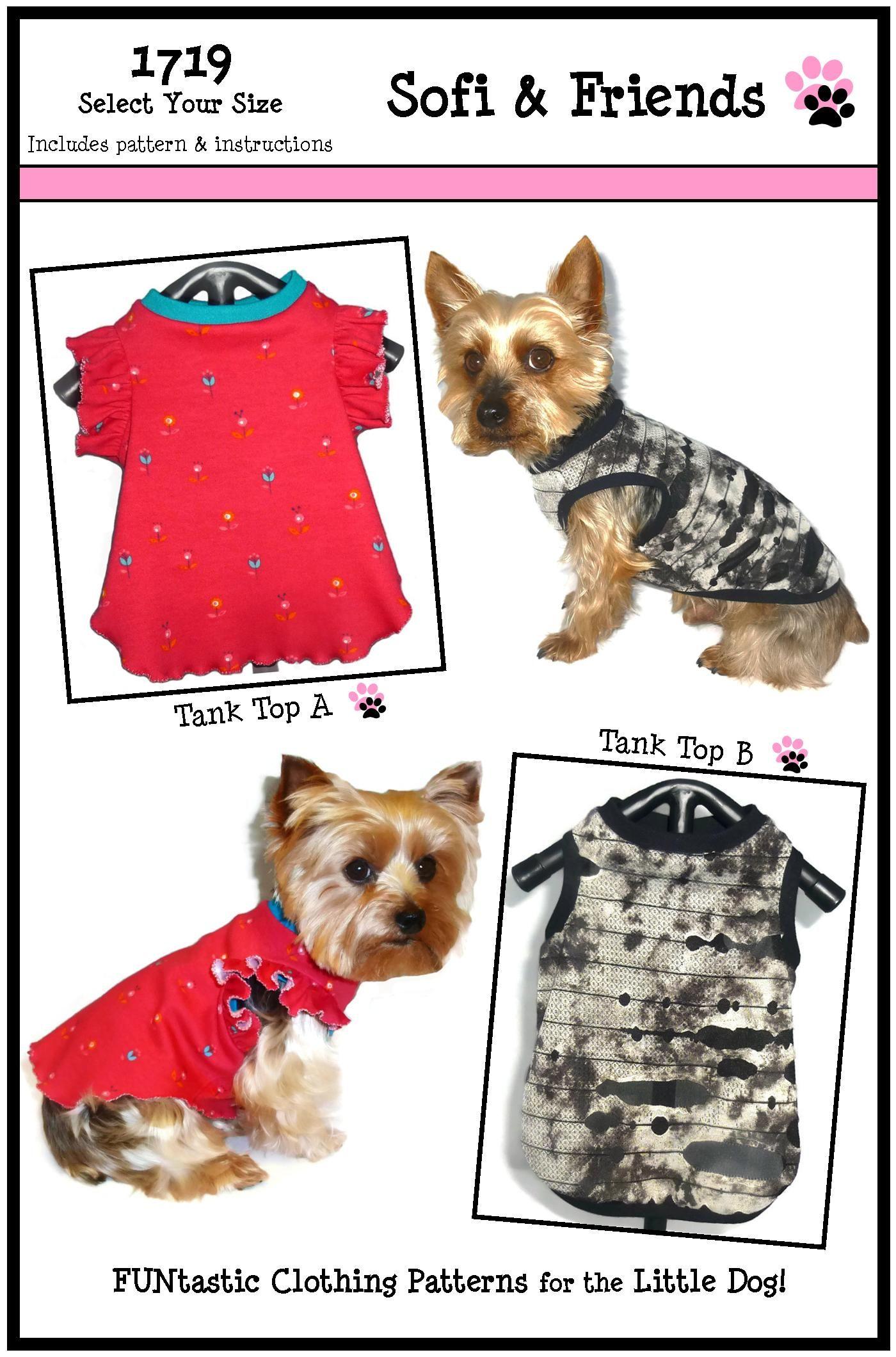 06c16854742c Dog Tank Top Pattern 1719 * Dog Shirts * Dog Tank Top * Dog Clothes ...