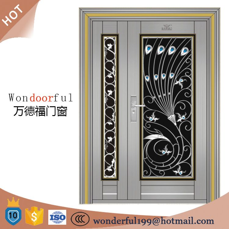 304 Stainless Steel Grill Door Design Main Gate Colors Entrance Door