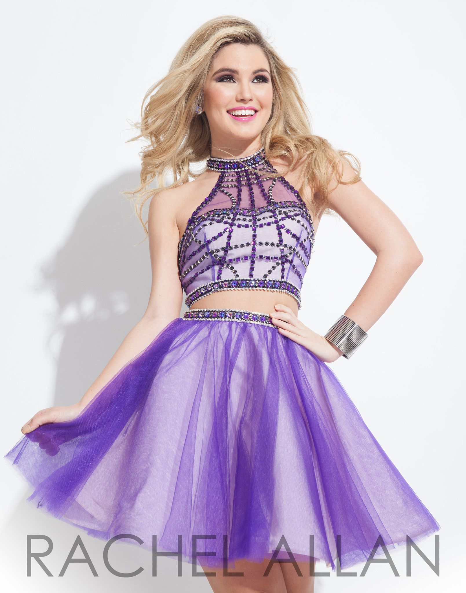 Rachel Allan 4050 Purple Two Piece Homecoming Dress at Rsvp Prom and ...