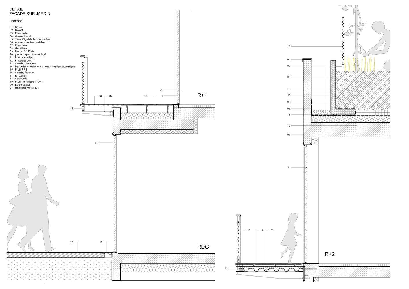 Gallery Of Participatory Habitat In Montreuil Nzi Architectes 21 Architecture Details Residential Architecture Habitats