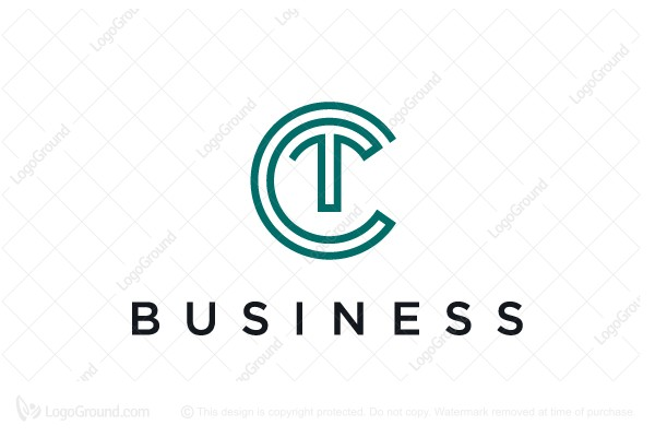 Exclusive Logo 181619, Letter Ct Logo Monogram Logo Ct
