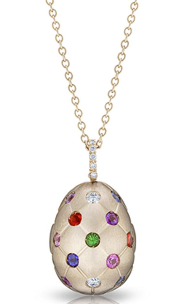 701a484f2 Faberge Treillage Fine Jewellery Egg Pendant Treillage Multicoloured Rose  Gold Matt | C W Sellors Fine Jewellery and Luxury Watches