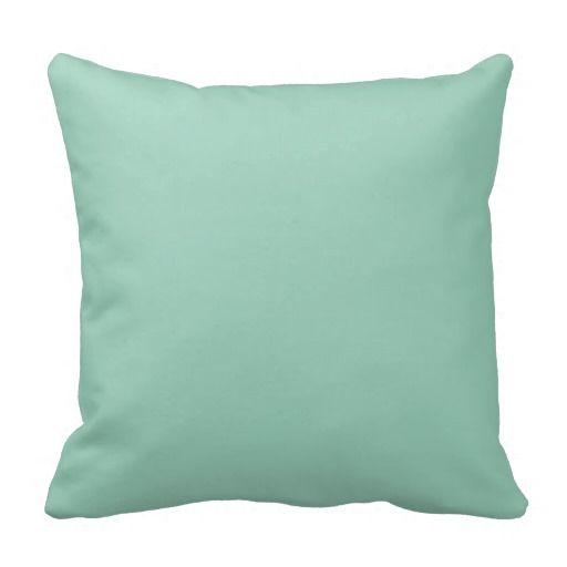 Light Seafoam Green Sea Foam Color Trend Template Throw Pillow