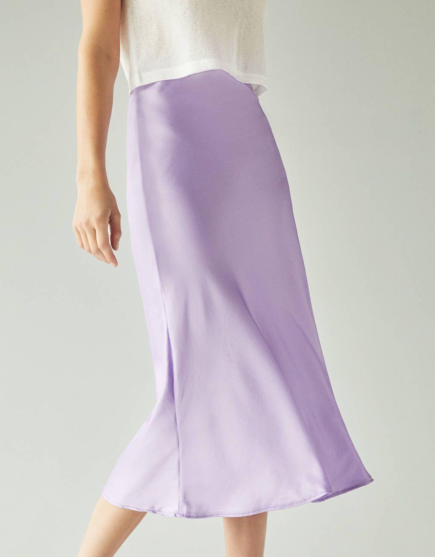 bfc10e30fe46 Satynowa spódnica midi w 2019 | what i want. | Satin midi skirt ...
