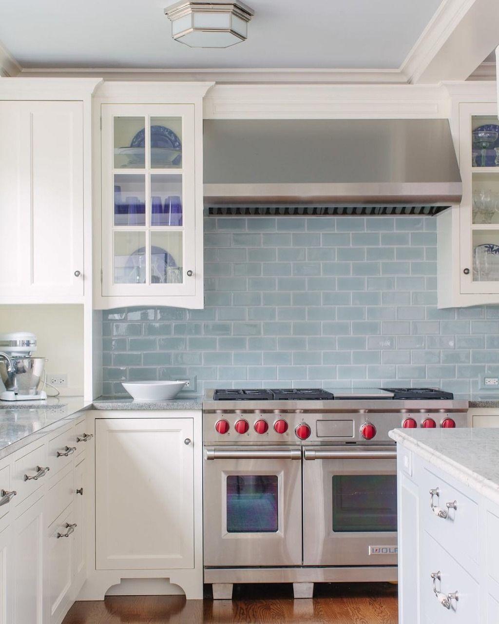 Inneneinrichtung Homedecor Interiordesign Blue Backsplash Kitchen Blue Tile Backsplash Kitchen White Modern Kitchen
