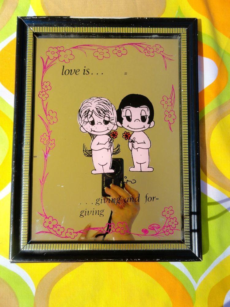 VTG 1970s Retro L-O-V-E Love is Giving Kim Grove Casali Groovy Wall ...