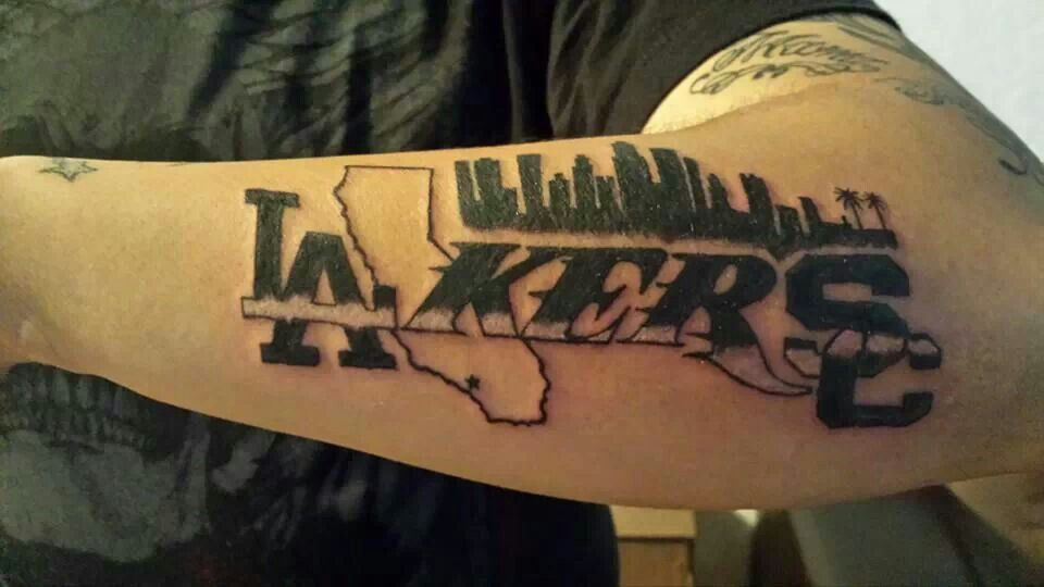 La lakers california tattoo and skyline artist jose for Laker tattoo designs