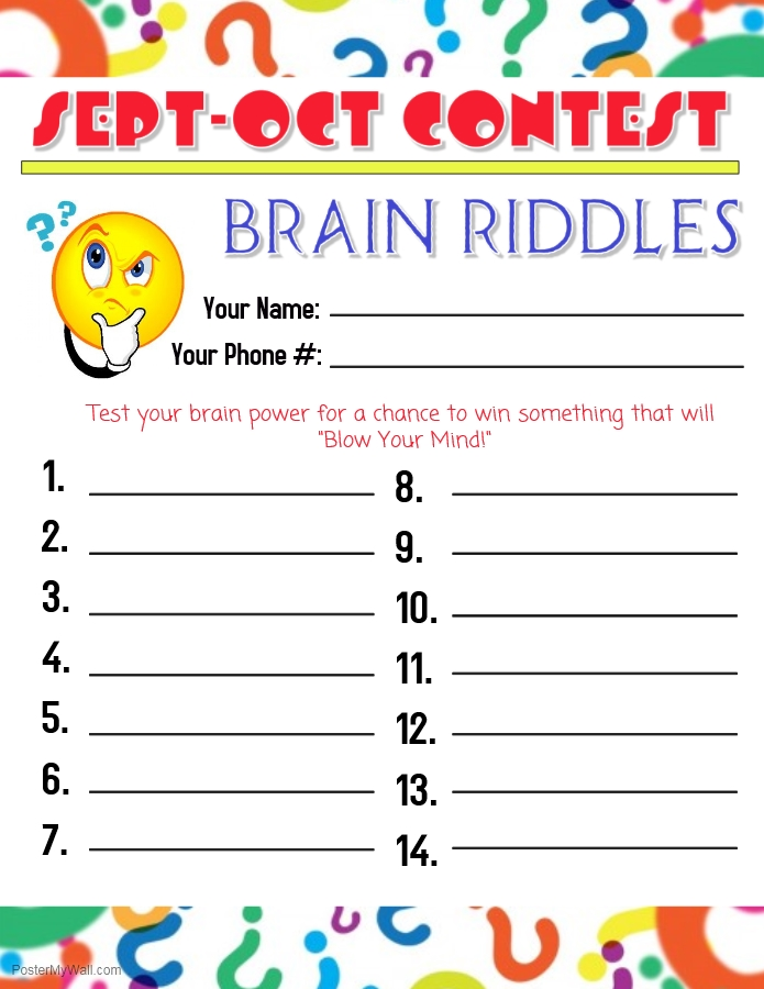 Richmond OrthodonticBrain Riddles Contest Entry Form  Office