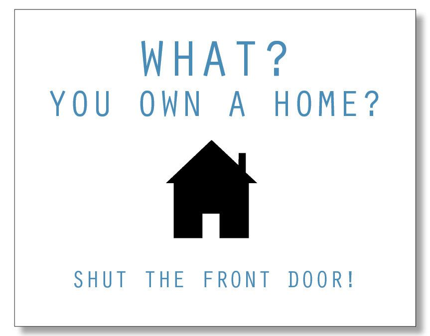 Hilarious Homeowner Card Funny Housewarming Card New Home